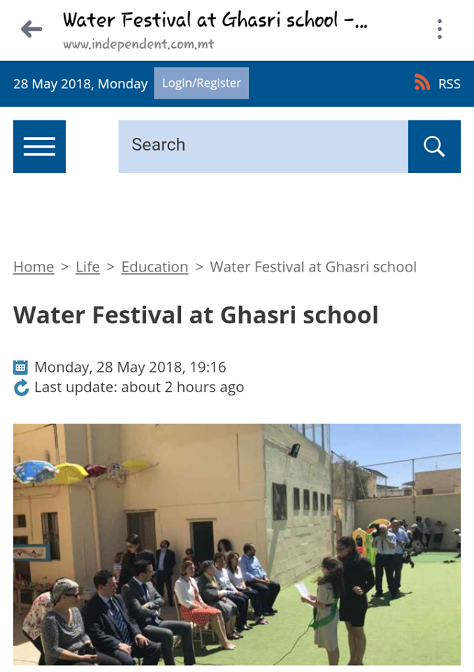Our water festival on the online newspaper